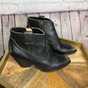 Frye Shoes - Frye Reina Leather Black Bootie